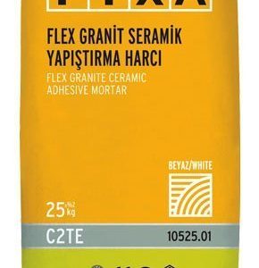 FİXA-FİXA FLEX Granit Seramik Yapıştırma Harcı (Beyaz)